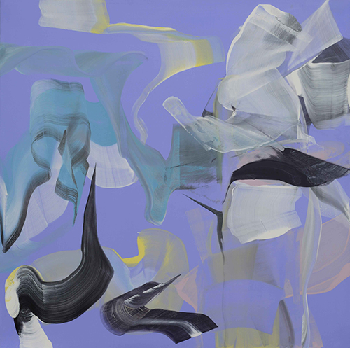 Anne Jallais, Breakaways 15, acrylic on canvas, 150x150 cm, 2014