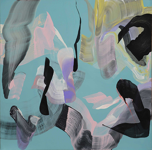 Anne Jallais, Breakaways 16, acrylic on canvas, 150x150 cm, 2014