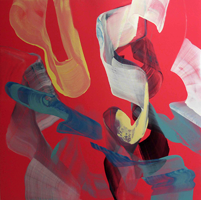 Anne Jallais, Breakaways 19, acrylic on canvas, 120x120 cm, 2014