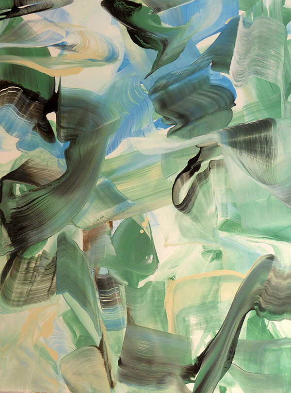 Anne Jallais, Tumults 7, acrylic on canvas, 130x97 cm, 2014-2015